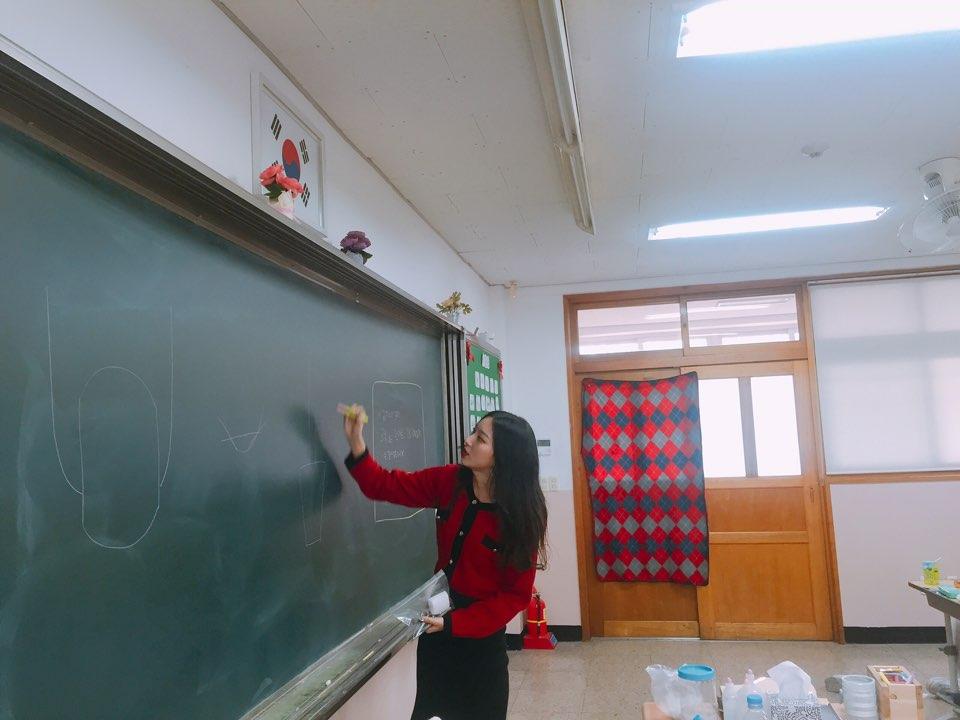 경상여자중학교 네일 강의