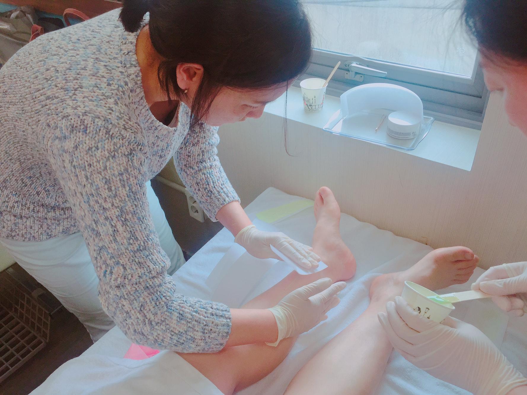피부 2과제 제모 연습 중!